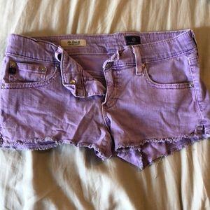 Purple AG Jean Shorts